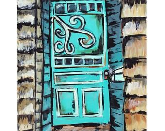 Acrylic Painting, Door in Maine