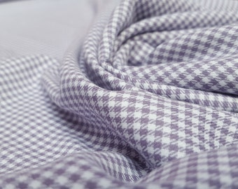 Brushed Cotton / Flannel Fabric: Mauve Gingham Print