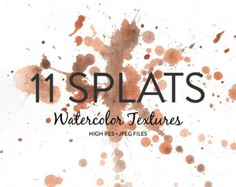 Watercolor Backgrounds - 11 Watercolor Splat Backgrounds / Watercolor Textures / Watercolor Clipart