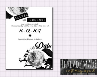 Wedding Save the Date Printable
