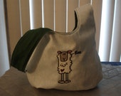Embroidered Medium Sheep Knot Bag