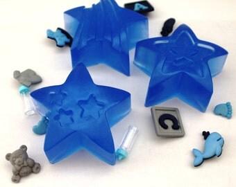 Glycerin soap- baby favor / set of 6 Star soaps