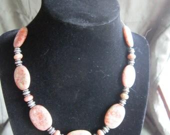 "16"" Autumn Jasper necklace"