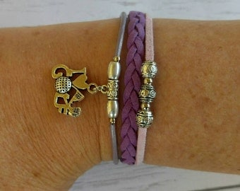 Girls Golf Bracelet// Friendship Bracelet// Team Colors// Golf Mom// Golf Coach// Golf Gift// Choose  Colors & Sports Charm