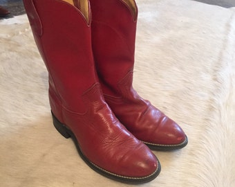 Size 6 Red Cowboy Boots