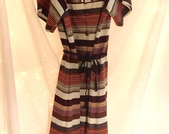 Vintage Striped Dress