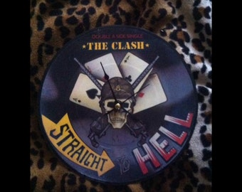 """The Clash """"Straight to hell"""" clock"""