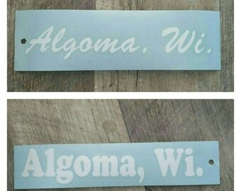 Window Decal: Algoma, WI
