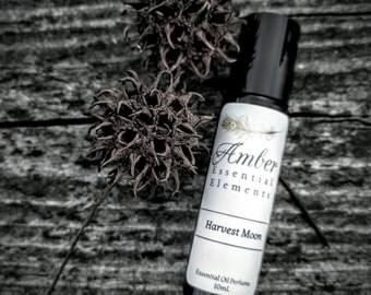 Harvest Moon: sweet orange, neroli, ylang ylang, and vanilla natural perfume blend