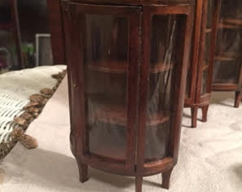 Wooden Dollhouse 'Concord' Miniature Curio Cabinet