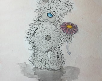 Me to you teddy bear with flower