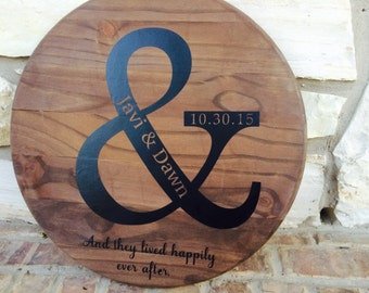 Personalized Lazy Susan   Ampersand