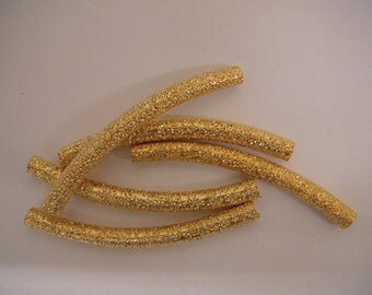 3x35mm Gold Filled Stardust Curve tube, GF1542A