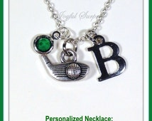Personalized Golf Gift for Women, Golf Necklace, Golf Jewelry, Silver Golf Club Necklace, Golfers Present, Gift for Golfers, Golfers Dad 51