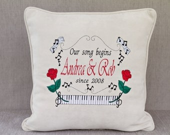 Embroidered Wedding Pillow ( custom )