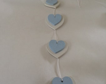 Wooden heart hanger