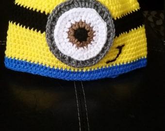 minions crochet beanie