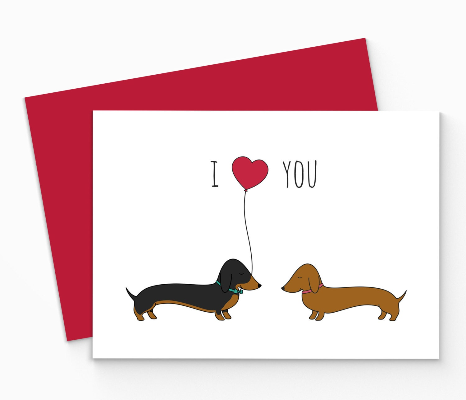 Dachshund Home Decor Printable Dachshund Valentines Card Digital Sausage Dog Love