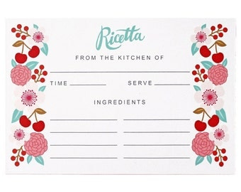 Recipe Cards-Set of 10-Kitchen Made in Italy
