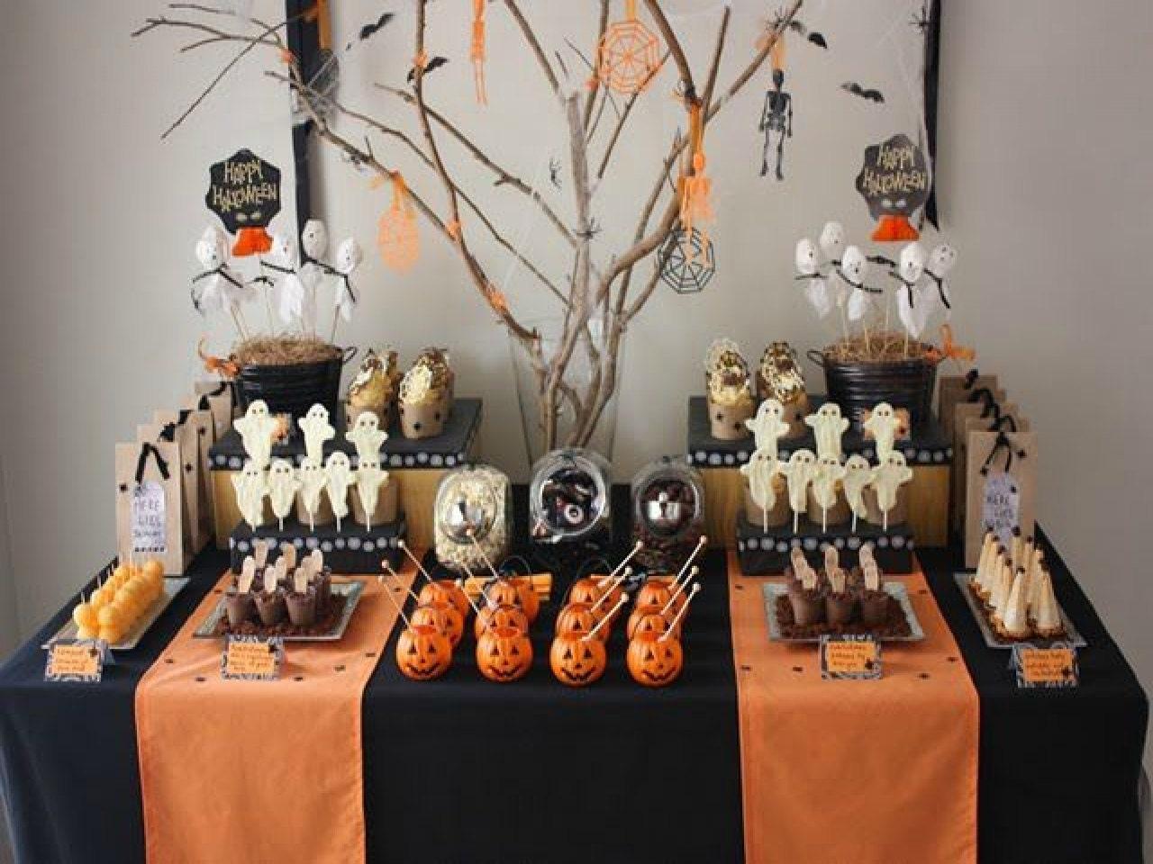 Halloween decor table runner polyester table runner - Decoration halloween facile a faire ...