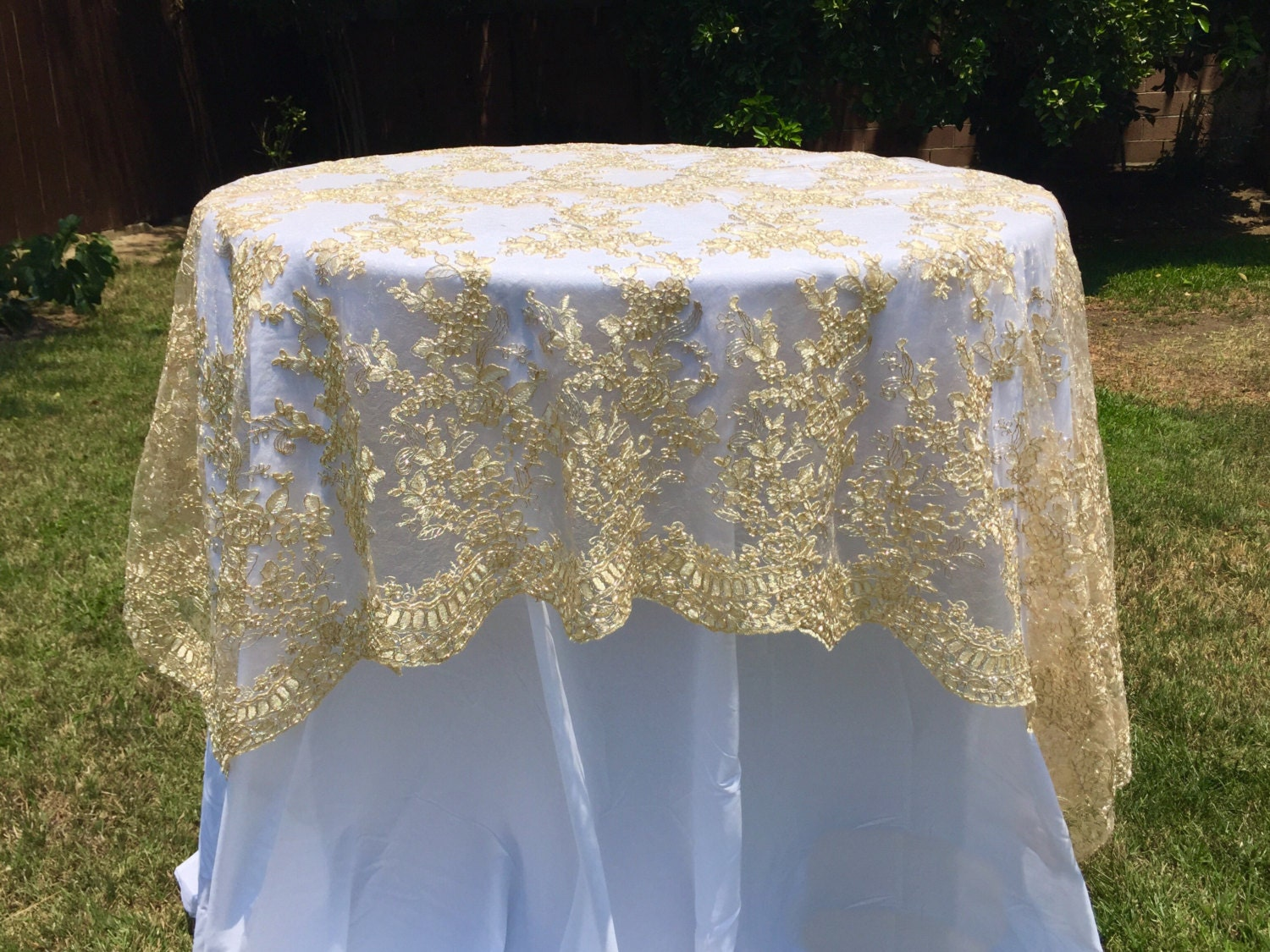 Lace Tablecloth Lace Table Overlay Table Overlay Table