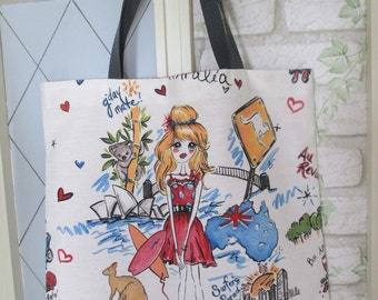 Tote bag girls bag XL Italy