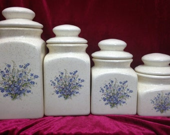 Four Piece Ceramic Canister Set