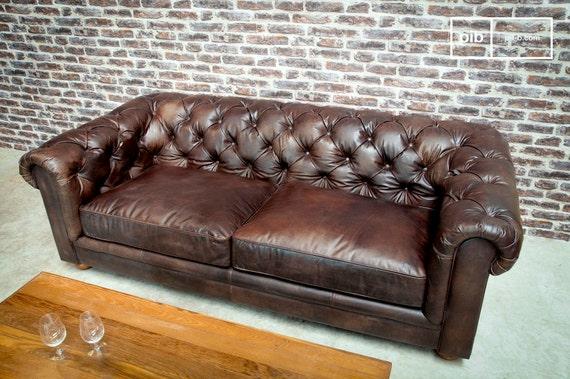 Dark Chesterfield Sofa by ProduitInterieurBrut on Etsy