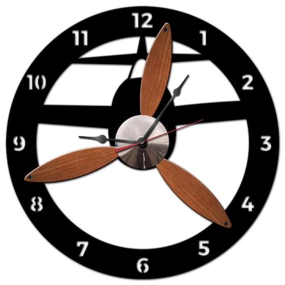 Propeller Wall Clock : D airplane propeller clock