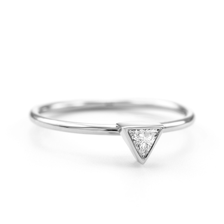 promo sale delicate trillion ring triangle