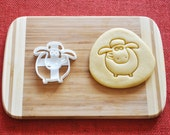 Shaun The Sheep Cookie Cutter Cartoon Biscuit Stamp Cake Topper Fondant Gingerbread cutter Baby Shower Gift