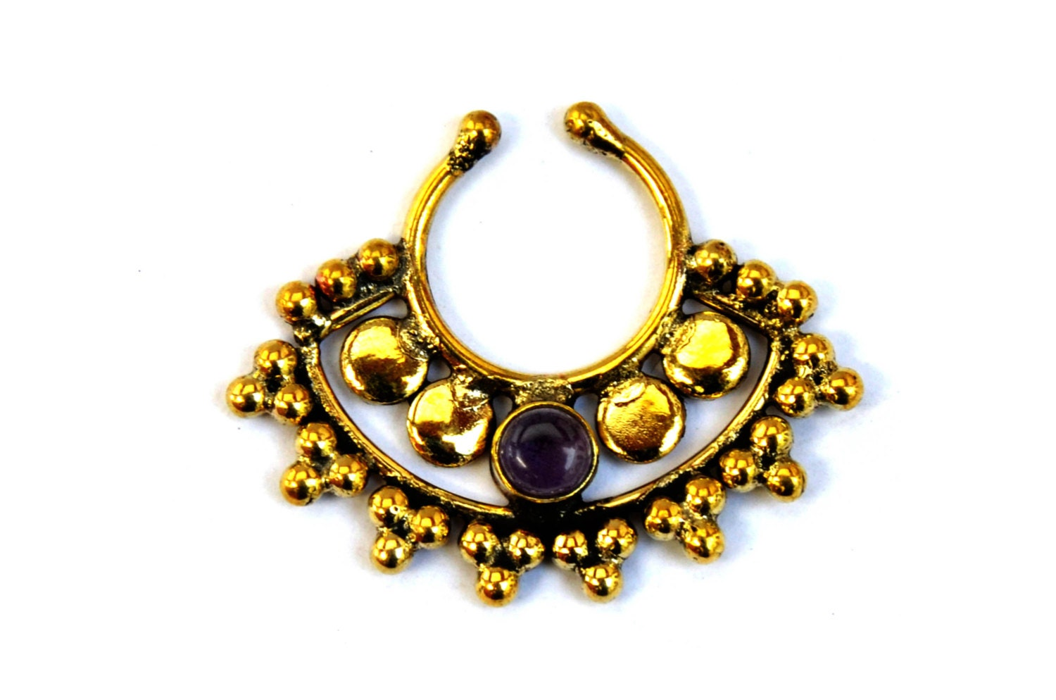 indian septum ring tribal septum ring septum ring faux