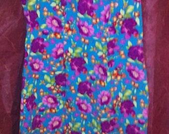 cute vintage 70's flower print dress