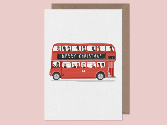 london bus christmas card routemaster bus card london. Black Bedroom Furniture Sets. Home Design Ideas