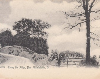 New Philadelphia, Ohio Vintage Postcard - Along the Ridge Scenic View  Tuscarawas Valley 1900s