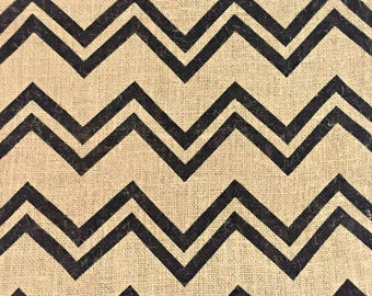 Chevron Burlap Fabric / Burlap Fabric / Chevron Fabric / Printed Burlap / Burlap by the Yard