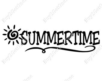 SummerTime Decal - Wall Quotes - Summer Wall Words - Summer Wall Decor - Summer Quotes - Summer Wall Words - Summertime Decoration - Summer
