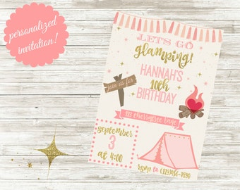 Glamping themed birthday party!