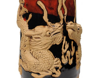 3-D Asian Dragon 24 Oz. Tankard