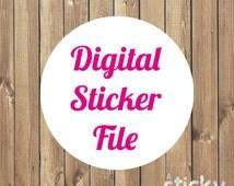 Printable Personalized Sticker Design PDF