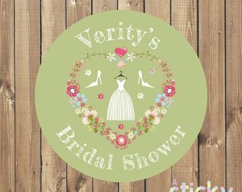 Personalized Bridal Shower Stickers, Bridal Shower Labels, Bridal Shower Tags, Bridal Shower Favours, Bridal Shower Favors, Custom Stickers