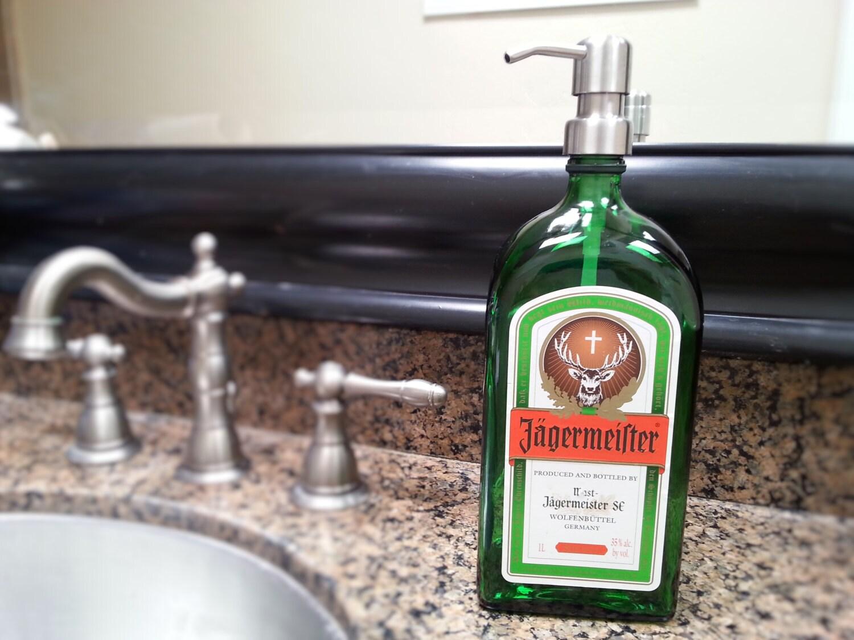 Man Cave Liquor Decor : Jagermeister dispenser liquor bottle soap bar