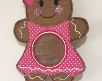 Gingerbread decoration / Gingerbread lady / Christmas tree decoration / Gingerbread woman / Christmas felt decoration / sweet holder