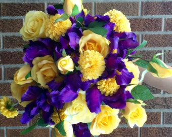Iris and Rose Bouquet