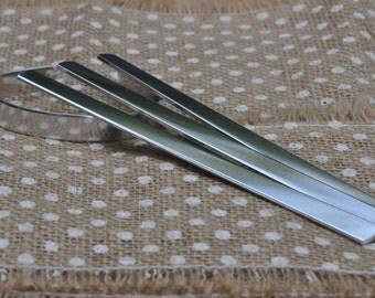 20 Polished 3/8' x 6' Bracelet Cuff Blanks 14g 1100 Food Safe Aluminum- FLAT