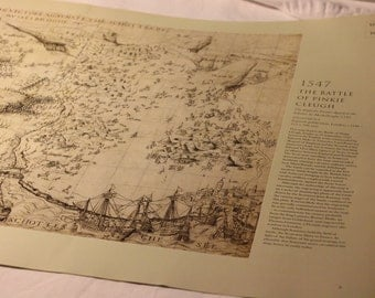 Map Print Battle of Pinkie Cleugh