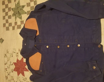 Men's 80s style  jean jacket