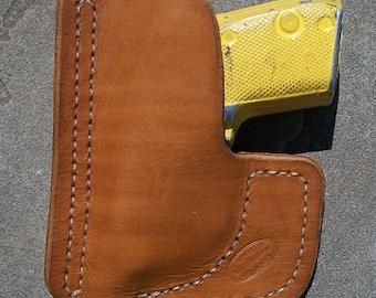 brown pocket Beretta Bobcat holster