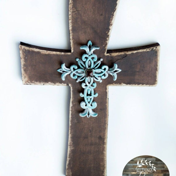 Rustic wooden cross rustic home decor wall decor wall Home decor wall crosses