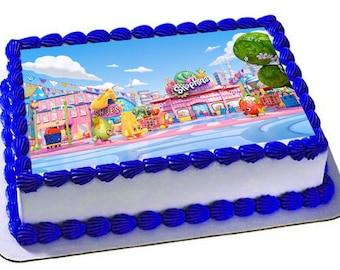 Shopkins Edible Cake Topper, Shopkins Birthday Party, Edible Frosting Sheet
